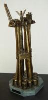 Troll-A, bronse kunstmodell plattform på marmor fot